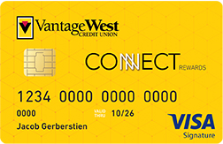 Vantage West Connect Rewards Visa Signature: Earn 5x rewards in a category of your choice